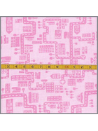 Baumwollstoff City Map soft rosa
